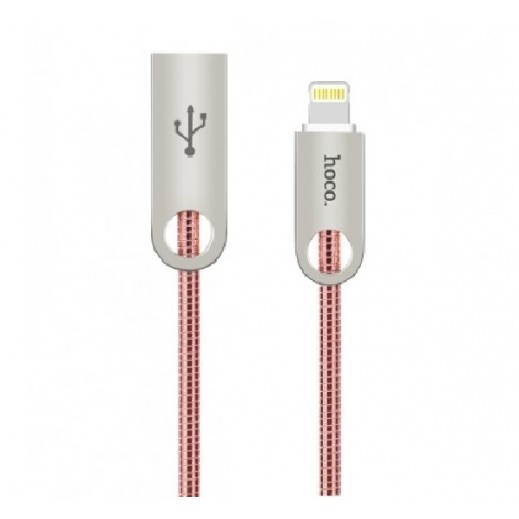 Hoco Metal Lightning Cable 1 M – Rose Gold
