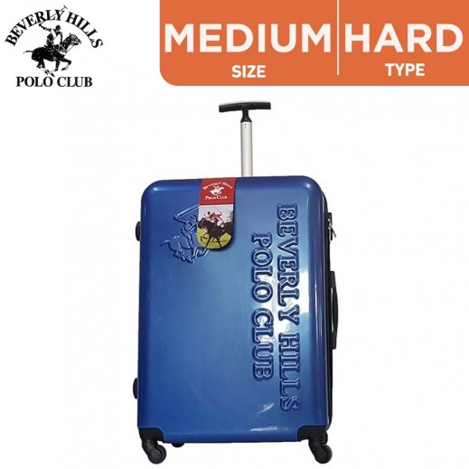 Beverly Hills Polo Club Airport PC Medium Hard Luggage 66 cm Blue