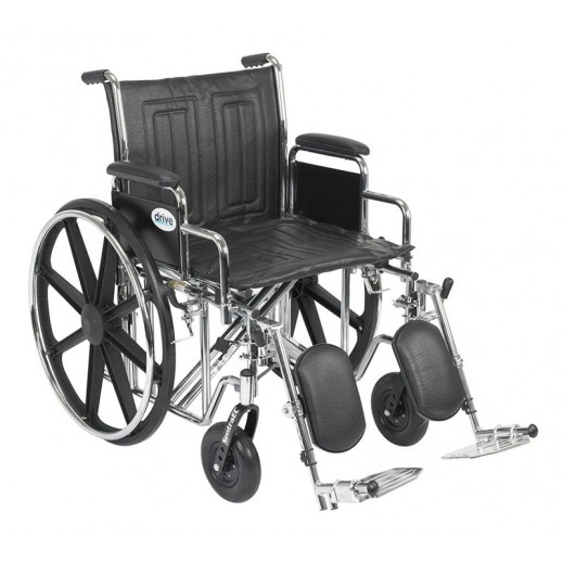 Drive Medical Steel Wheelchair Bariatric Sentra 300 Kg Capacity - delivered by Al Essa Company