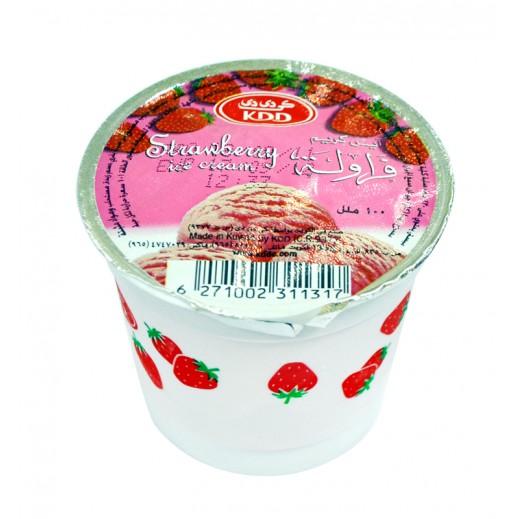 KDD Strawberry Ice Cream 100 ml Cups