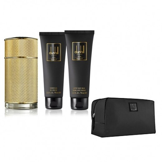 Dunhill Icon Absolute Gift Set For Him EDP 100 ml + After Shave Balm 90 ml + Shower Gel 90 ml + Toiletry Bag