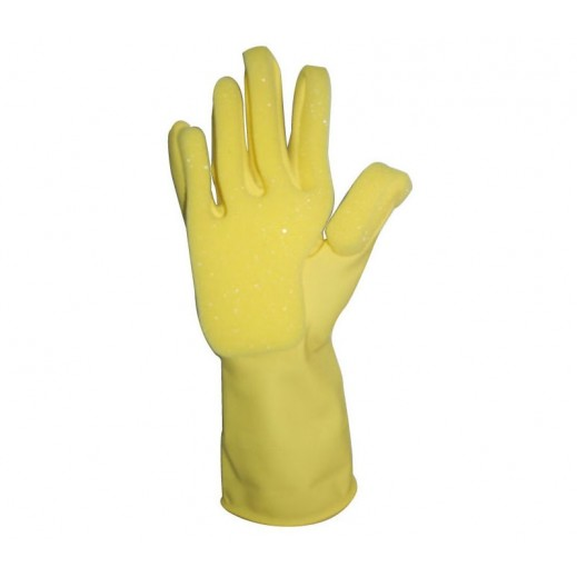 Duraglove Latex Gloves with Sponge - 1 Pair