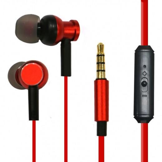 Zusen Earphones with Microphone - Red