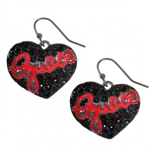 Guess Small Pave Heart Earrings - delivered by Beidoun after 4 Working Days