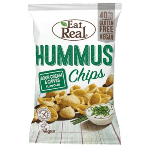 Eat Real Organic Humus Chips Sea Salt 100 g