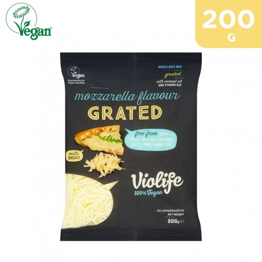 Violife Vegan Gluten Free Mozzarella Flavour Grated Cheese 200 g