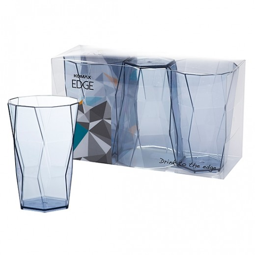 Komax Edge Cup 3 Pieces Set - 350 ml