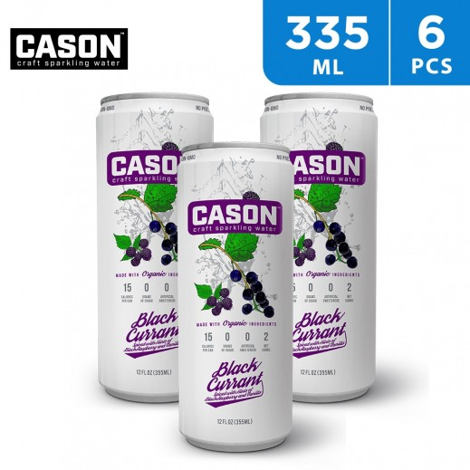 Cason Gluten Free Blackcurrant Sparkling Water 6 x 355 ml