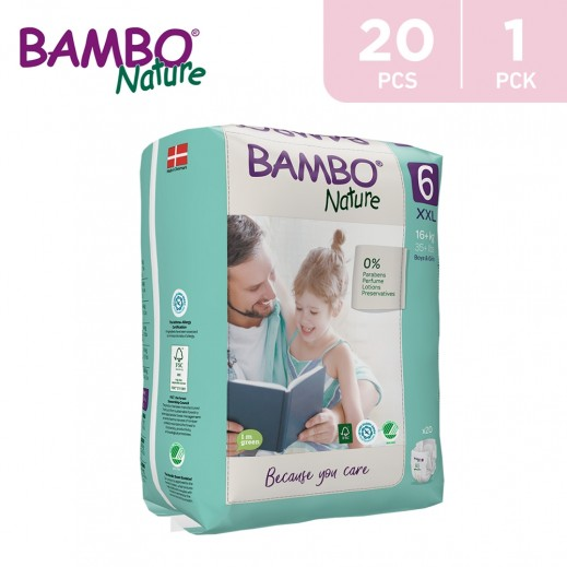Bambo Nature Diapers Size 6 XXLarge (16+ Kg) 20 Pieces
