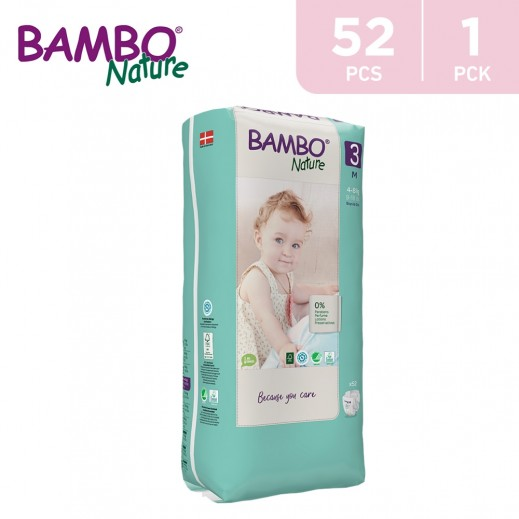 Bambo Nature Diapers Size 3 Medium (4-8 Kg) 52 Pieces