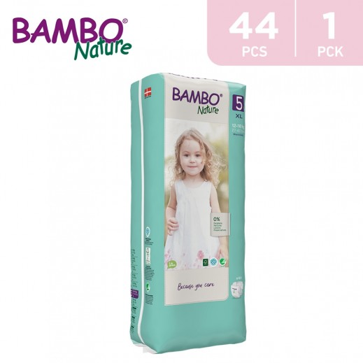 Bambo Nature Diapers Size 5 XLarge (12-18 Kg) 44 Pieces