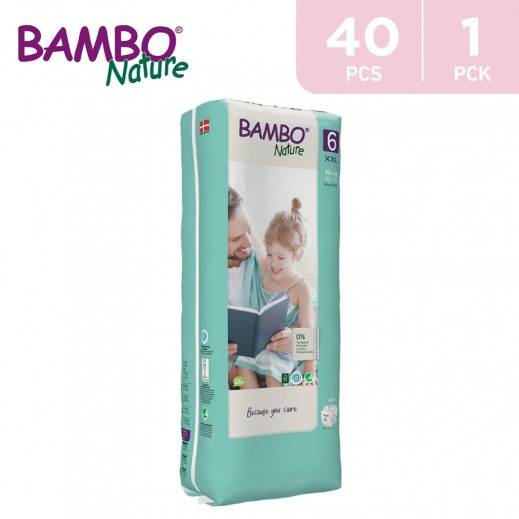 Bambo Nature Diapers Size 6 XXLarge (16+ Kg) 40 Pieces