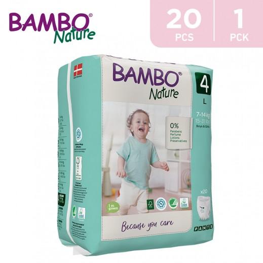 Bambo Nature Maxi Pants Size 4 Large (7-14 Kg) 20 Pieces