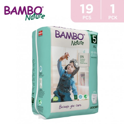Bambo Nature Maxi Pants Size 5 XLarge (12-18 Kg) 19 Pieces