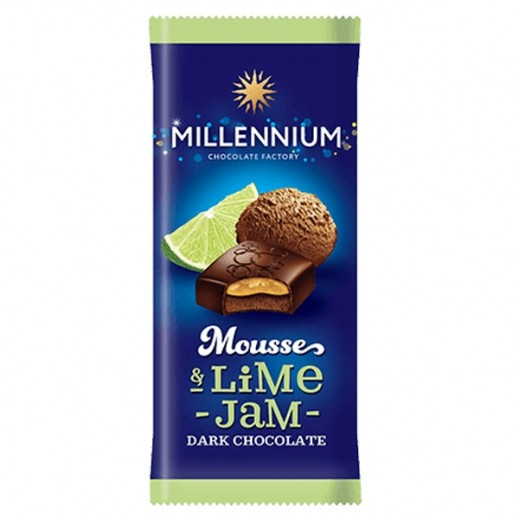 Millennium Chocolate Dark w/ Mousse & Lime Filling 135 g