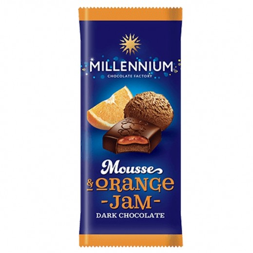 Millennium Chocolate Dark w/ Mousse & Orange Filling 135 g
