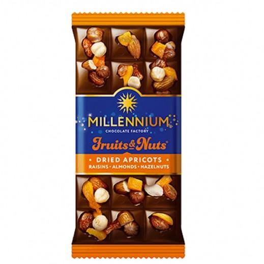 Millennium Milk Chocolate w/ Almond Whole Hazelnuts Dried Apricots & Raisins 80 g