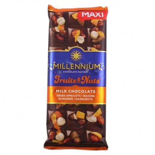 Millennium Milk Chocolate w/ Almond Whole Hazelnuts Dried Apricots & Raisins 140 g