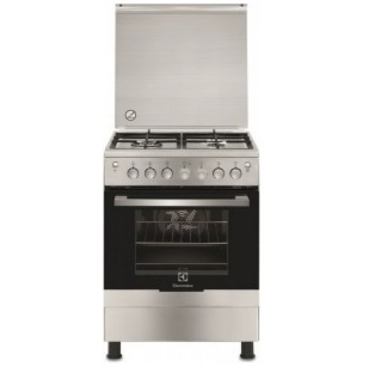 Electrolux Cooker Gas Oven and Hob 4 Burner 60 x 60 cm - White - delivered by Jashanmal & Partners WITHIN THREE WORKING DAYS