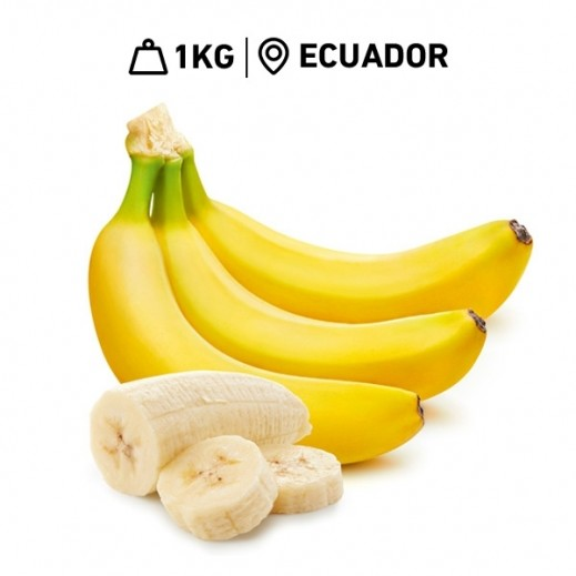 Fresh Ecuadorian Banana (Dole) 1 kg Approx
