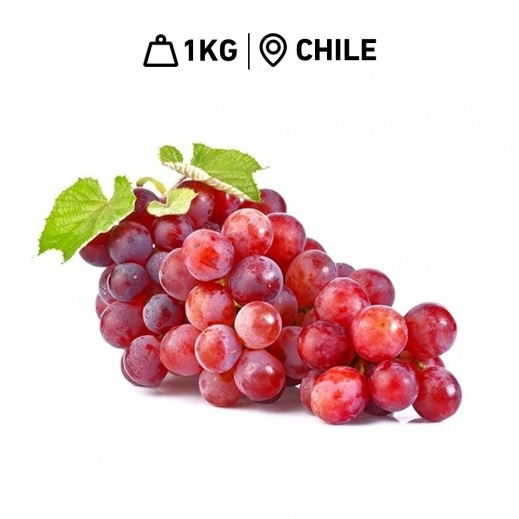 Fresh Chilean Red Globe Grapes (1 kg Approx.)