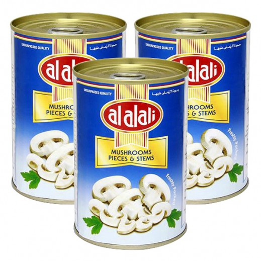 Al Alali Mushrooms Sliced 3 X 400 g