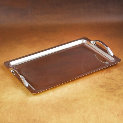 EME Stainless Steel Serving Tray with Handle 35 cm (Italy)