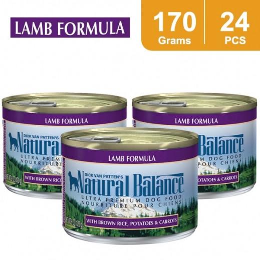 Wholesale - Natural Balance Lamb Formula Dog Food 170 g (24 Pieces)
