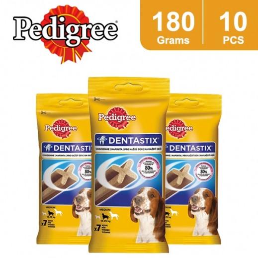 Wholesale - Pedigree Denta Stix Medium 7 Pieces 180 g  (10 Packs)