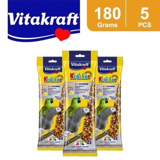 Wholesale - VitaKraft Kracker Multi Vitamin Parrots 180 g (5 Pieces)