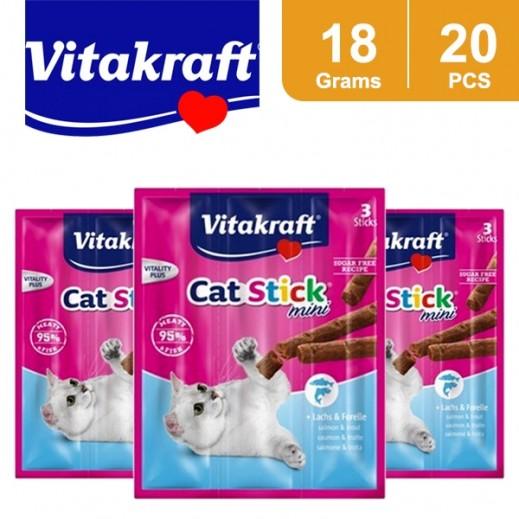Wholesale - Vitakraft Cat Stick Salmon & Trout 18 g (20 Pieces)