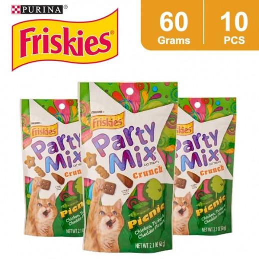 Wholesale - Friskies Party Mix Picnic (Cats Treats) 60 g (10 Pieces)