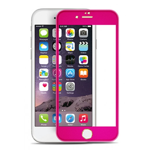 Titanium 3D Alloy Tempered Glass Protector For Iphone 6 Pink