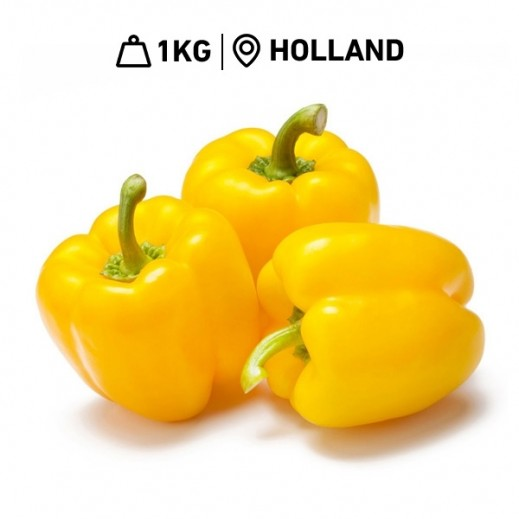Holland Capsicum Yellow (1 kg Approx)