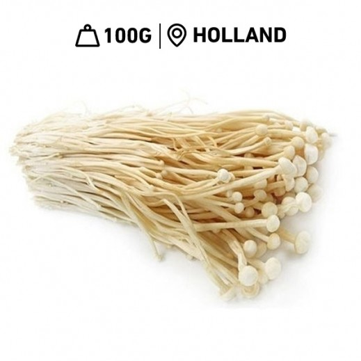 Fresh Dutch Enoki Mushroom Pack (100 g Approx.)