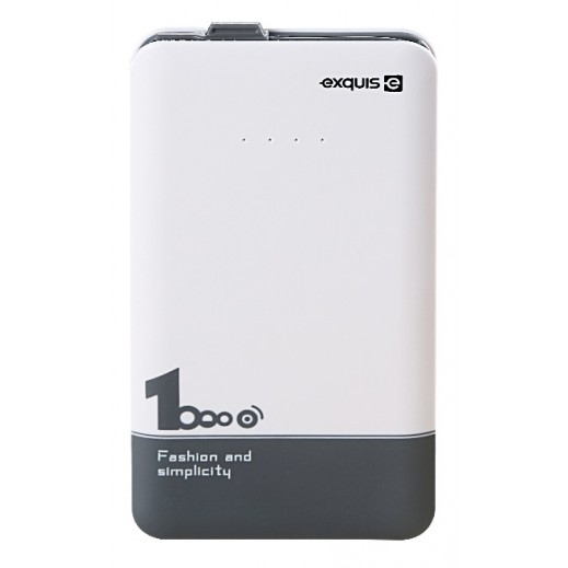 Exquis Power Bank 10,000 mAh - White