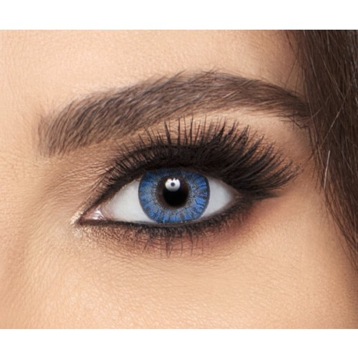 Freshlook Colorblend True Sapphire Monthly Non Prescription Contact Lenses With Solution - 1 Pair