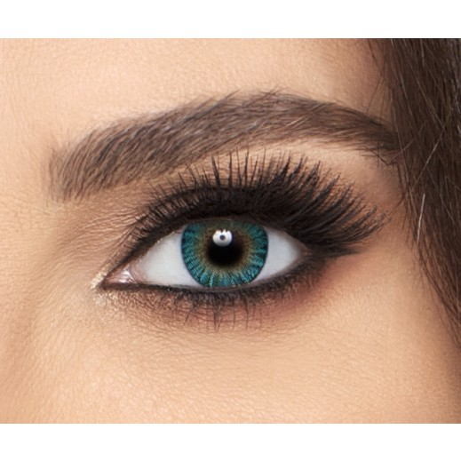 Freshlook Colorblend Turquoise Monthly Non Prescription Contact Lenses With Solution - 1 Pair