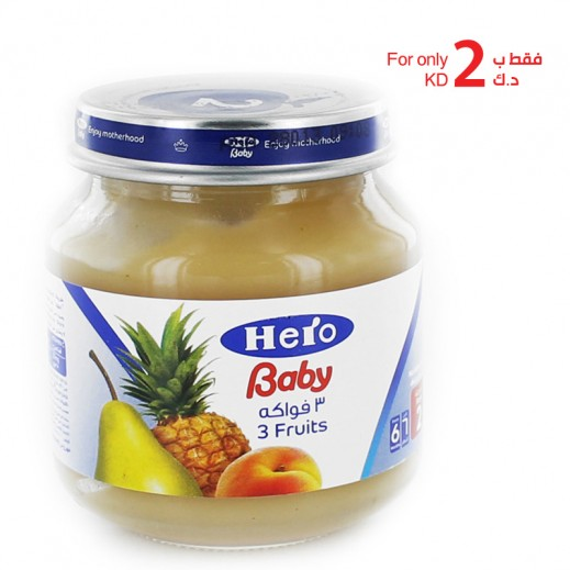Hero Baby Food Jar - 3 Fruits 5 x 130 g