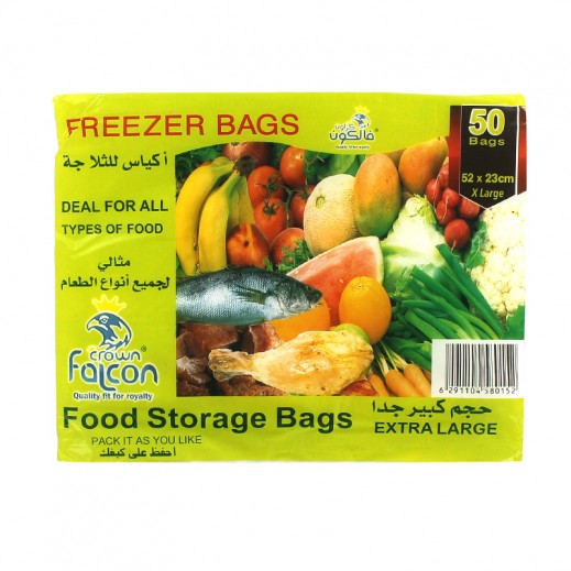 Falcon Crown Food Storage Bags Extra Large (50 bags)