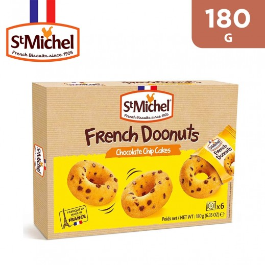 St Michel French Doonuts Chocolate Chip Cakes 180 g