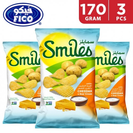 Fico Smiles Chips Assorted Flavour 3 x 170 g