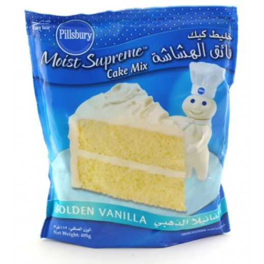 Pillsbury Cake Mix Golden Vanilla 485 g