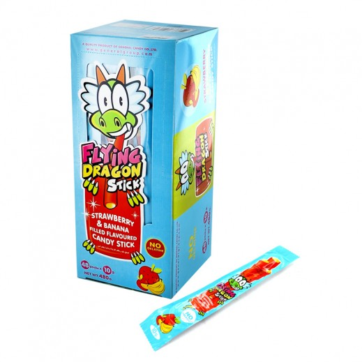 Flying Dragon Candy Stick Strawberry And Banana 48 x 10 g