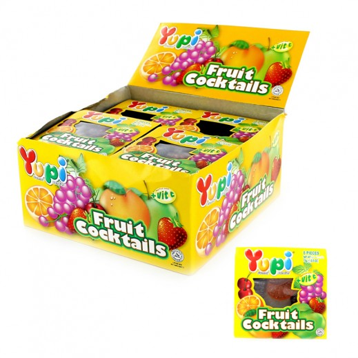 Yupi Jelly Candy Fruit cocktails (6 pieces) 24x15 g