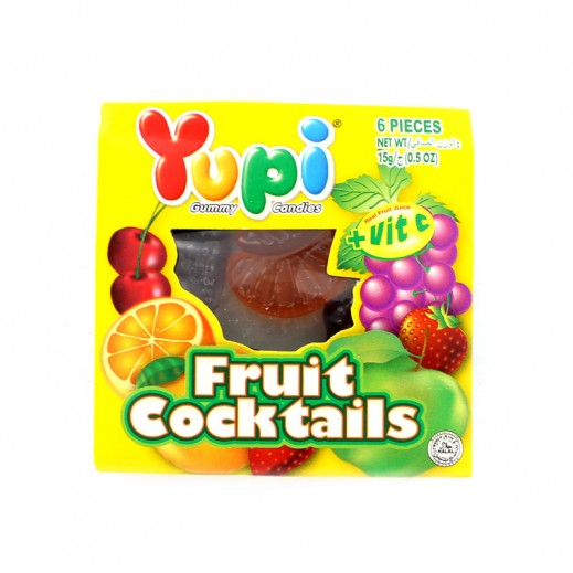 Yupi Jelly Candy Fruit Cocktails (6 pieces) 15 g