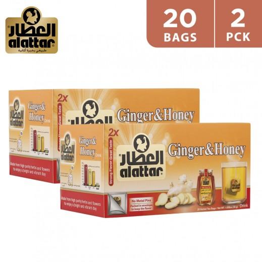 Alattar Ginger & Honey Tea 2 x 20 Teabags