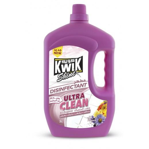 Kwik Shine Disinfectant Ultra Clean Flowers 3 L