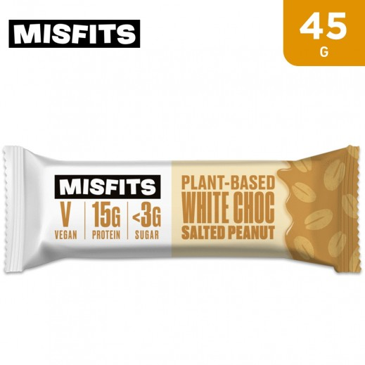 Misfits White Chocolate Salted Peanut Protein Bar 45 g