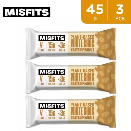 Misfits White Chocolate Salted Peanut Protein Bar 3 x 45 g